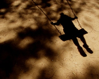 Girl On A Swing Silhouette, Instant Digital Photo Download, Fine Art Photography, Wall art Photography Download