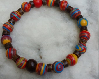 Rainbow bracelet for men or women