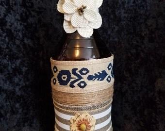 Decorated Bottle Vase