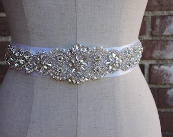 Crystal Rhinestone Bridal Belt-Bridal Belt-Bridal Sash-Kate