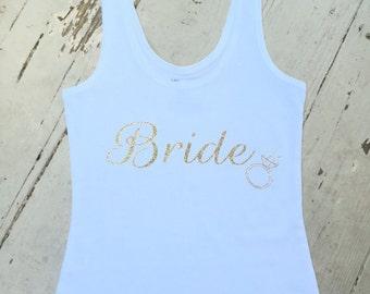 Brid Tank - Bride Shirt - Bachelorette Shirt - Bridesmaid shirts - Brides tank - Bride'sTops - Bachelorette Tank Tops