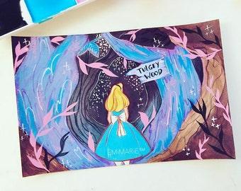 Disney Inspired Alice in Wonderland Fanart