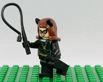 Cat Woman Custom minifigure (Lego Compatible) DC Comics Batman Villain Gotham Superhero Selina Kyle Arkham Asylum The Dark Knight Rises #2