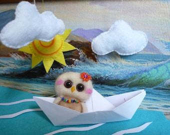 owlet on the boat