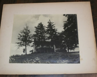 1939 Matted Photograph - Farm House