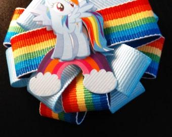 Rainbow Dash Hair Bow