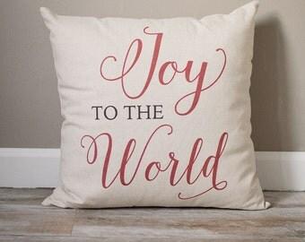 Joy To The World Pillow | Christmas Pillow | Holiday Pillow | Christmas Gift | Rustic Decor | Holiday Decor | Christmas Decor