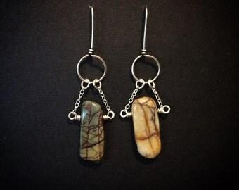Red Creek Silver Earrings