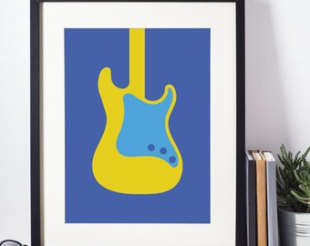 Poster Guitar Electric Stratocaster