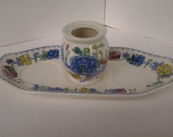 Masons Regency Colonial pattern tray and toothpick