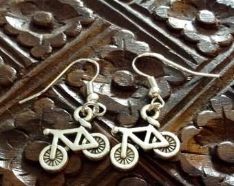 Tibetan Silver Bicycle Earrings