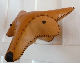 Fox head leather