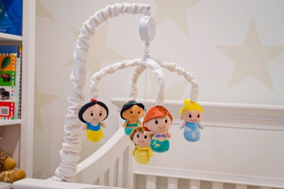Disney princess mobile baby crib mobile disney by angelandrose for Princess crib mobile