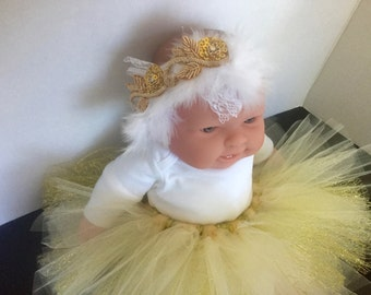 White Feather Embellished Headband