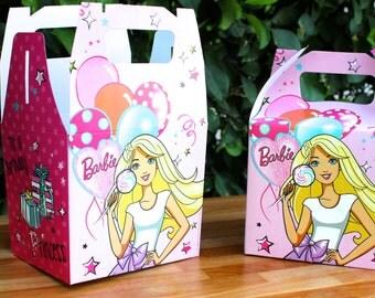 Barbie Party Treat box - Favor Box