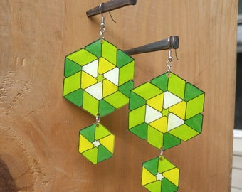 Summer Geometric Earrings - Shrinky Dinks