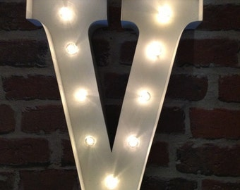 The Leading Lights LED Carnival Circus Large 33 cm Metal Alphabet Letters & Symbols - Choice of 5 Striking Colours