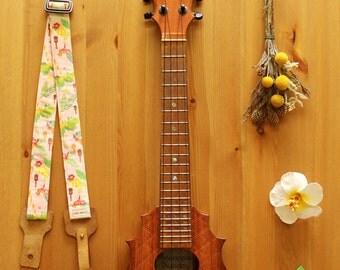 Lanimele Hawaiian ukulele strap_baby pink