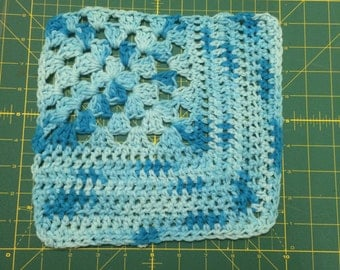 Large crochet washcloth 100% cotton