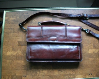 Vintage Fascino Italian Leather Handbag/Purse, Travel Bag