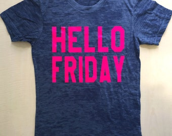 Hello Friday Cropped Tee