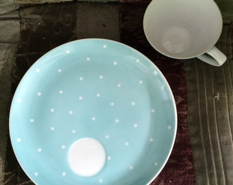 carolina blue polka dot china