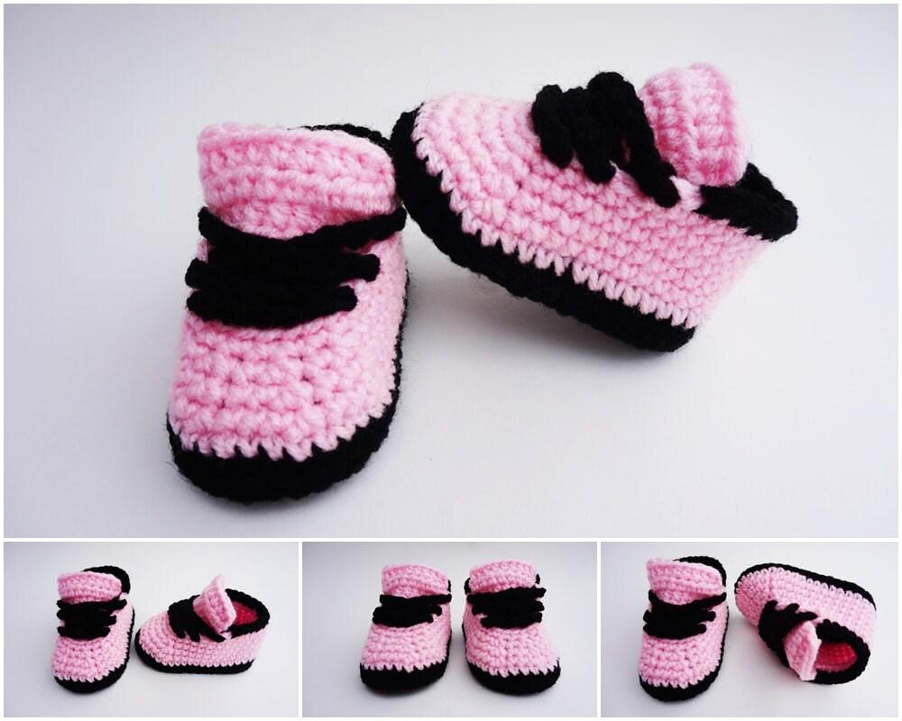 Crochet Baby Shoes Nike Style Crochet Sneakers Girls Sneakers