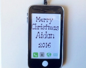 Personalized IPhone Smartphone  Christmas Ornament