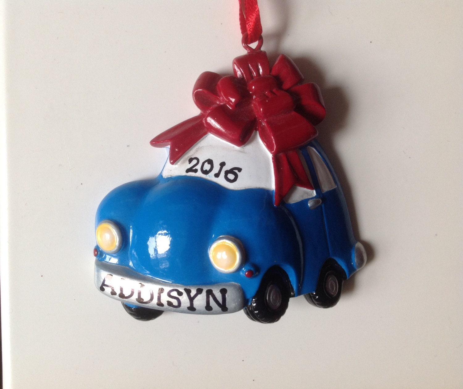 Personalized New Car First Car Christmas Ornament New