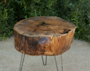 Reclaimed Wood Slab Table