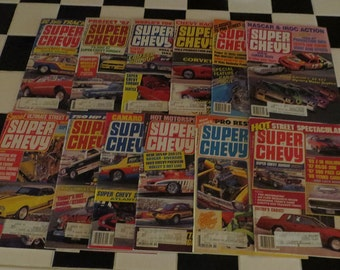 1988 Super Chevy Magazine, January-December 1988, 12 issues