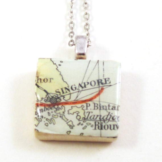 Scrabble tile necklace - Asia variations