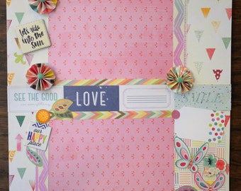 12x12 Life is Good premade scrapbook layout