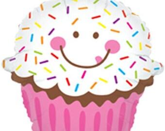 """Cupcake Balloon- 31"""" Foil Balloon"""