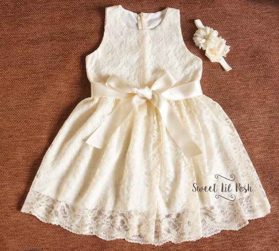 Ivory Flower Girl Dress Flower Girl Dress Ivory Lace Girl
