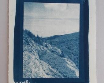 Cyanotpe Print, Acadia National Park, Maine