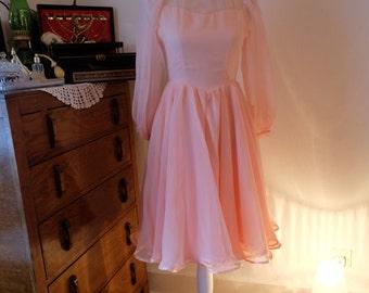 Handmade Dusty Pink Ballroom Evening Dress