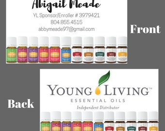 Young Living Independent Distributor Business Cards
