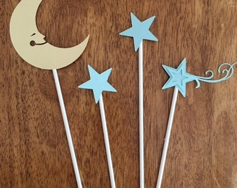 Moon & Stars Cake Toppers (set of 4)