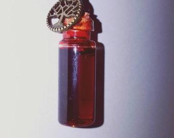 Vampire Blood glass bottle pendant