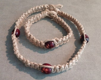 Hemp Necklace With Anklet
