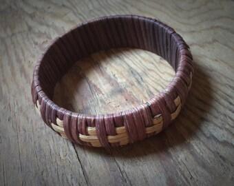 Vintage Basketweave Bangle
