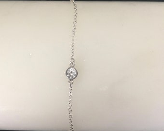 Fine chain with semi-precious stone bracelet