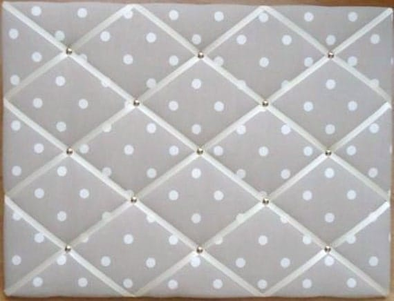 """Cath Kidston Stone Spot Notice Board/Memo Board 60cm x 45cm (24"""" x 18"""")"""