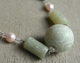 Stone Ball and Chain Necklace (#1005)