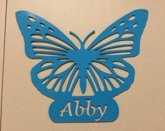 Personalized Butterfly Sign