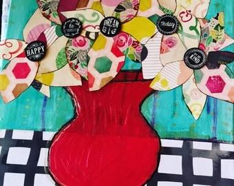 Pinwheel Flowers collage