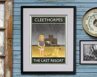 Cleethorpes: The Last Resort - A3 Rubbish Seaside print (signed and dated)