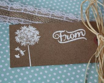 Dandelion Gift Tag/ dandelion tag/ dandelion/ gift tag/ tag