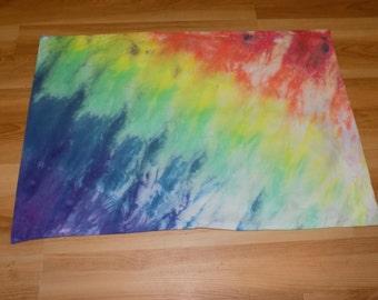 Tie dye rainbow pillow case